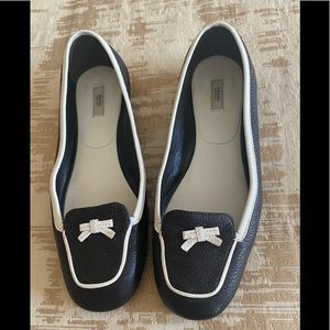 Prada shoes flats size 7 black white